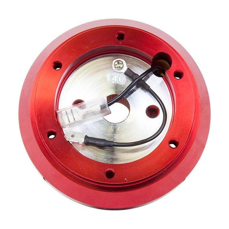 NRG SRK-140H-RD Short Steering Wheel Hub Adapter Red For 90-96 Nissan 300ZX-Interior-BuildFastCar