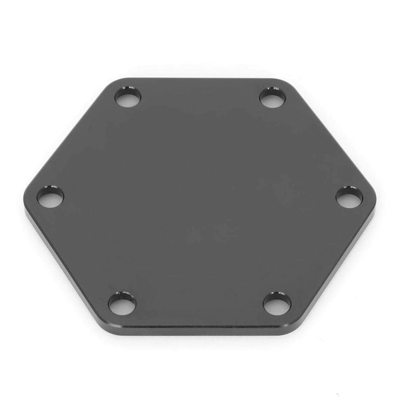 NRG STR-620BK Aluminum Black Anodized Steering Wheel Horn Delete Plate Cover-Steering Wheels & Accessories-BuildFastCar