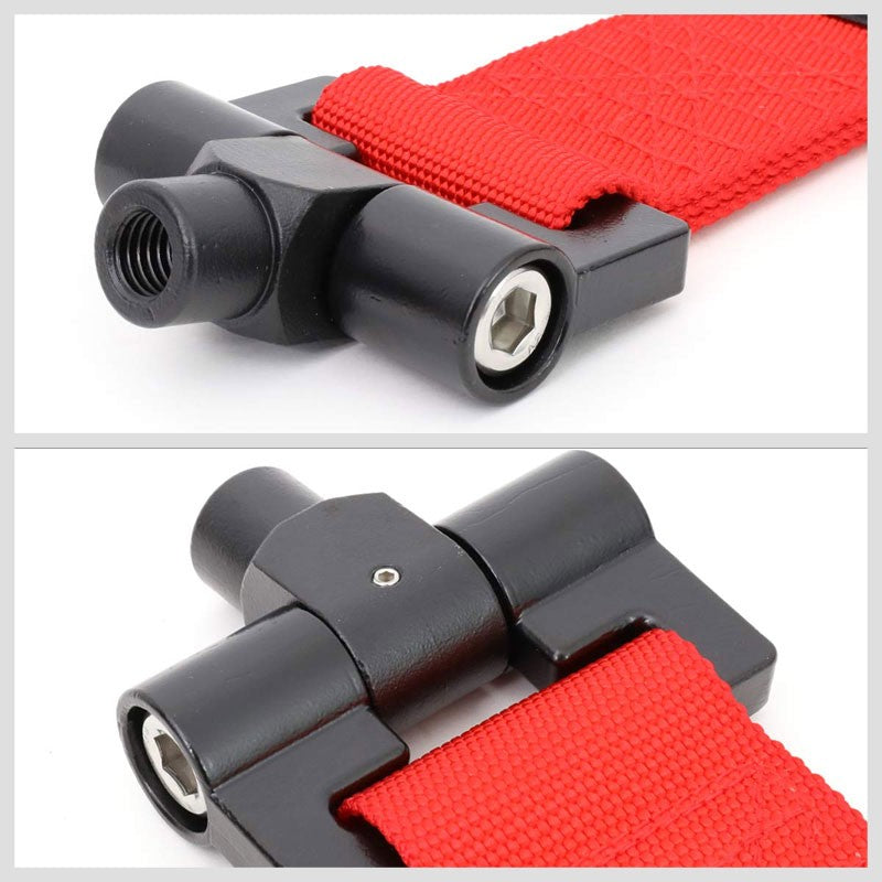 LED Keychain Flashlight NRG Innovations TOW-120RD Front//Rear Bumper 2.25 Inches Wide Nylon Towing Hook Belt Strap