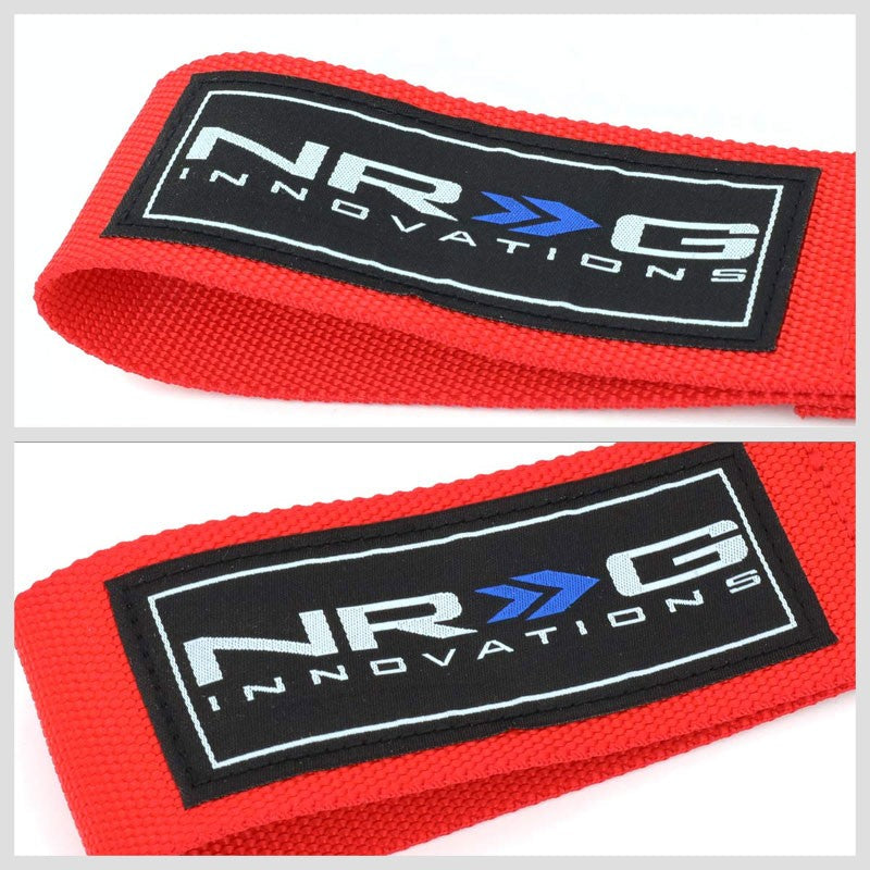 NRG Red TOW-163RD Front/Rear Nylon Tow Strap Tow Hook Kit For 04-07 Mazda 3-Truck & Towing-BuildFastCar-BFC-NRG-TOW-163RD