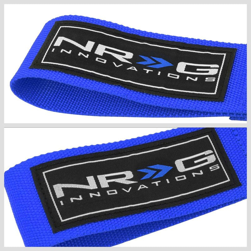 NRG Blue TOW-E92BL Front/Rear Nylon Tow Strap Hook Kit For BMW E90 E92 3 Series-Truck & Towing-BuildFastCar-BFC-NRG-TOW-E92BL