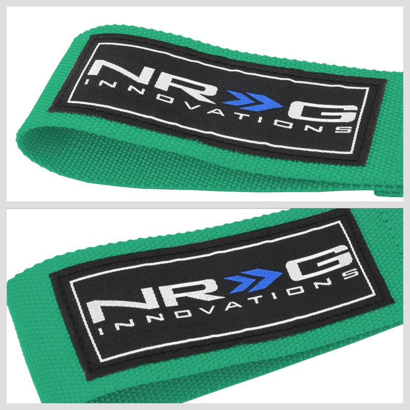 NRG Green TOW-E92GN Front/Rear Nylon Tow Strap Hook Kit For BMW E90 E92 3 Series-Truck & Towing-BuildFastCar-BFC-NRG-TOW-E92GN