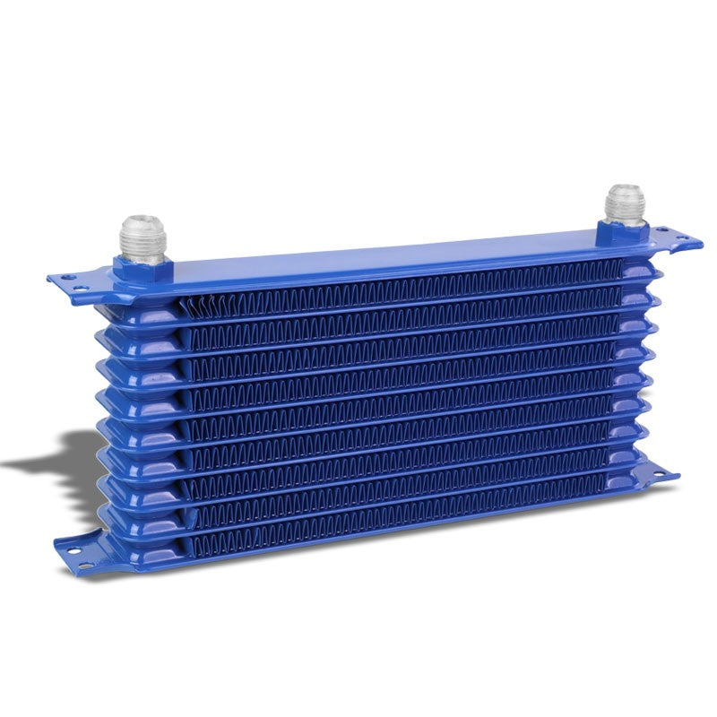 10 Row 10AN Blue Aluminum Oil Cooler for Turbo/Engine/Transmission/Differntral-Performance-BuildFastCar