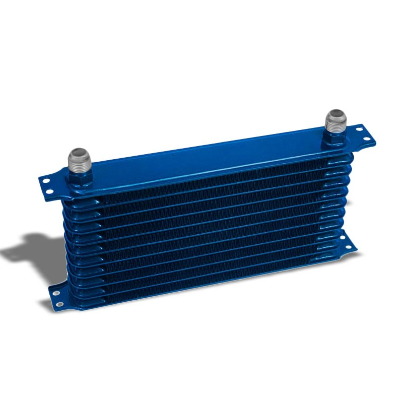 11 Row 10AN Blue Aluminum Oil Cooler for Turbo/Engine/Transmission/Differntral-Performance-BuildFastCar