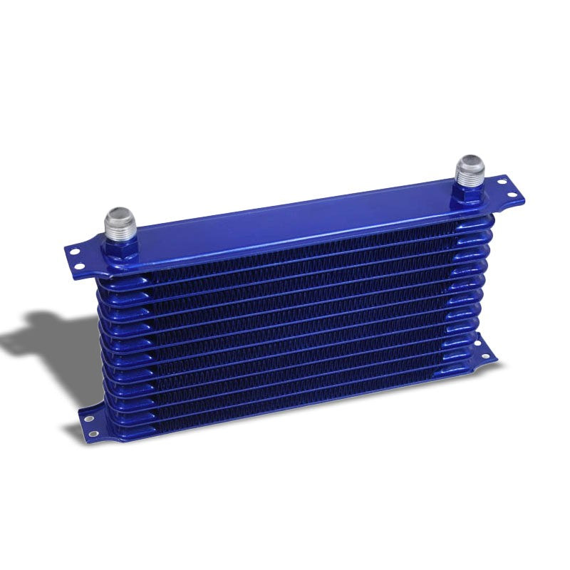 12 Row 10AN Blue Aluminum Oil Cooler for Turbo/Engine/Transmission/Differntral-Performance-BuildFastCar