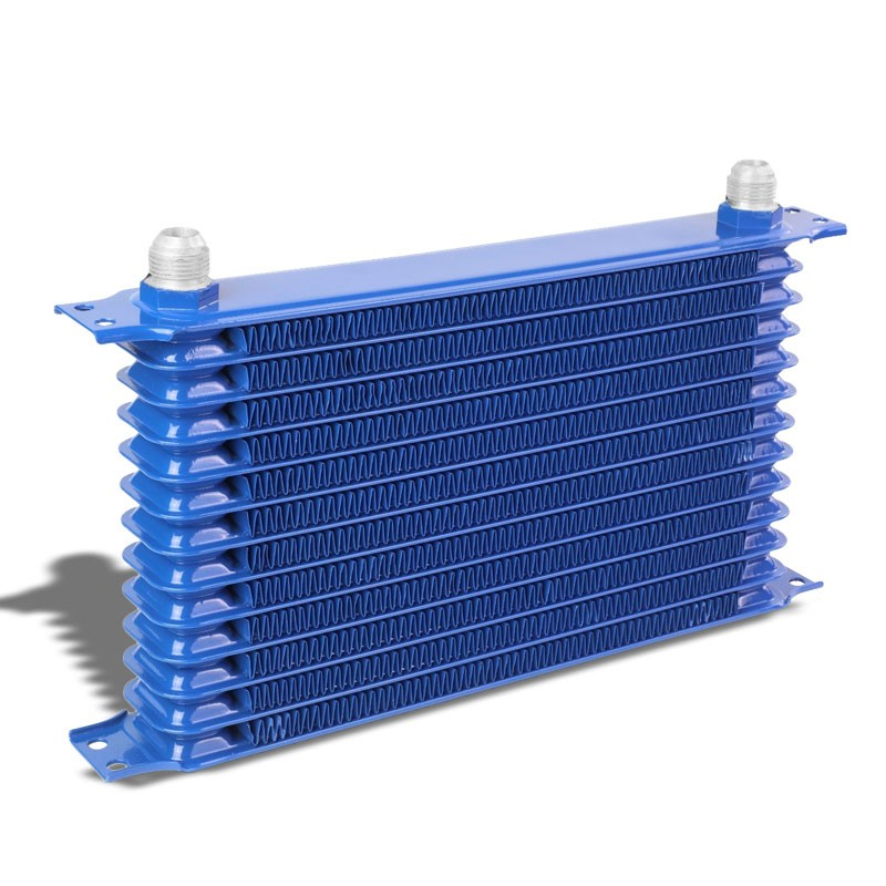 13 Row 10AN Blue Aluminum Oil Cooler for Turbo/Engine/Transmission/Differntral-Performance-BuildFastCar