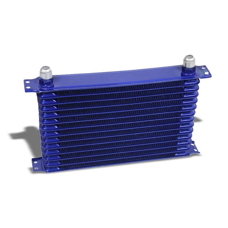 14 Row 10AN Blue Aluminum Oil Cooler for Turbo/Engine/Transmission/Differntral-Performance-BuildFastCar