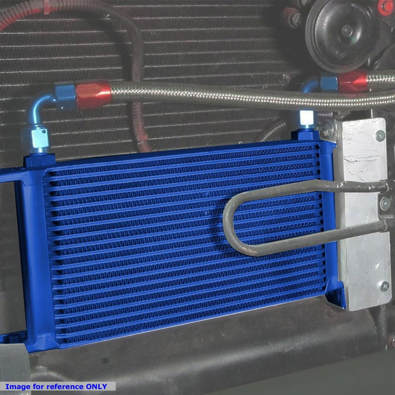 15 Row 10AN Blue Aluminum Oil Cooler for Turbo/Engine/Transmission/Differntral-Performance-BuildFastCar