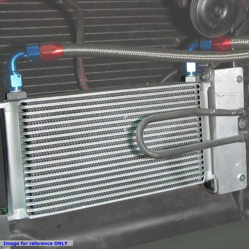 9 Row 10AN Silver Aluminum Engine/Transmission Oil Cooler+Black Relocation Kit-Performance-BuildFastCar