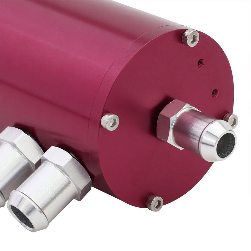 "140ML Universal Pink 5.5""L Round Engine Oil Catch Tank Can Reservoir+Air Filter-Performance-BuildFastCar"