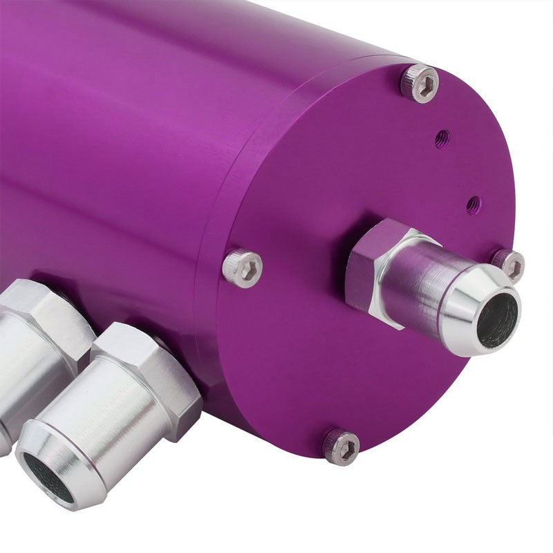 "140ML Universal Purple 5.5""L Race Engine Oil Catch Tank Can Reservoir+Air Filter-Performance-BuildFastCar"