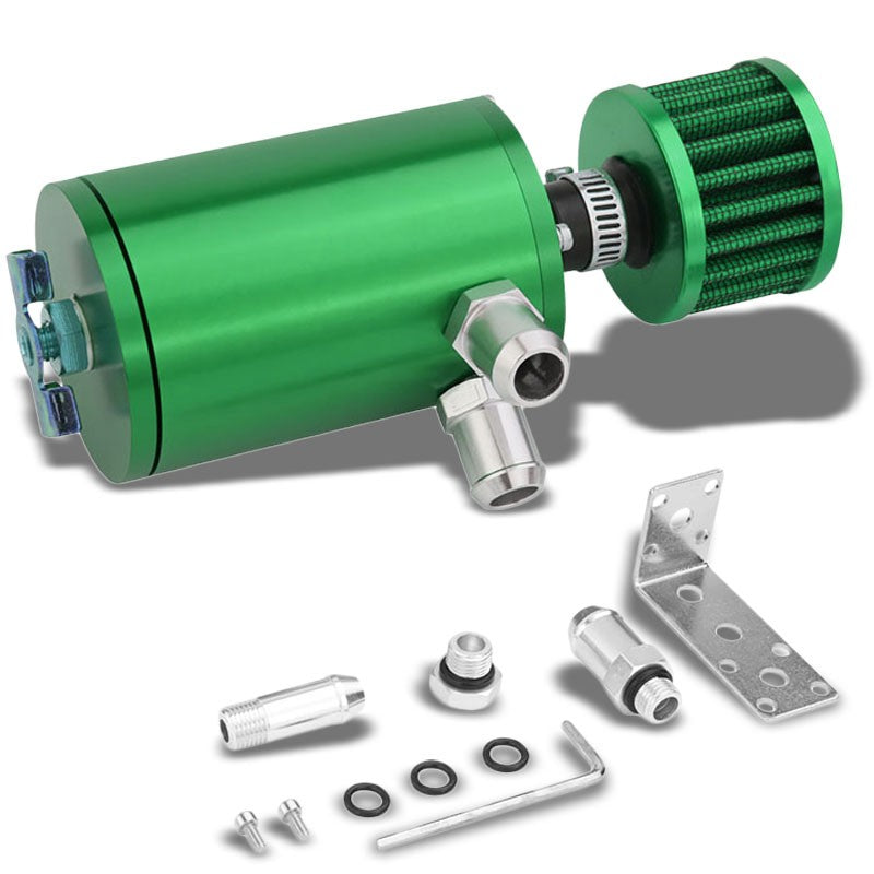 "100ML Universal Green 4.1"" Round Engine Oil Catch Tank Can Reservoir+Air Filter-Performance-BuildFastCar"
