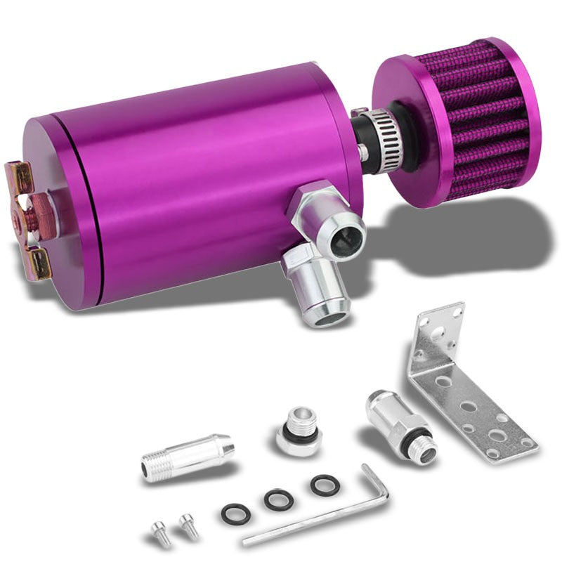 "100ML Universal Purple 4.1""L Race Engine Oil Catch Tank Can Reservoir+Air Filter-Performance-BuildFastCar"