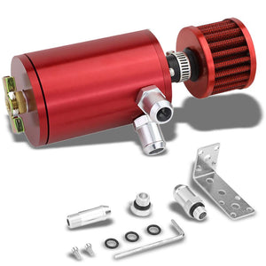 "100ML Universal Red 4.1"" Round Engine Oil Catch Tank Can Reservoir+Air Filter-Performance-BuildFastCar"