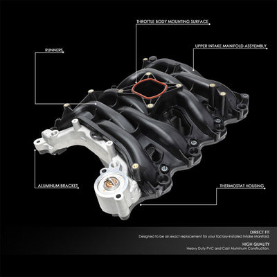 Black OE Upper Intake Manifold works with 01-11 Crown Victoria/01-11 Town Car-Performance-BuildFastCar