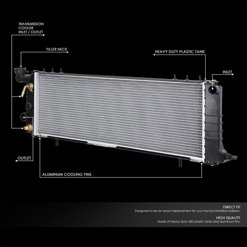 High Flow OE Style Aluminum Core Radiator For 91-01 Jeep Cherokee AT-Performance-BuildFastCar
