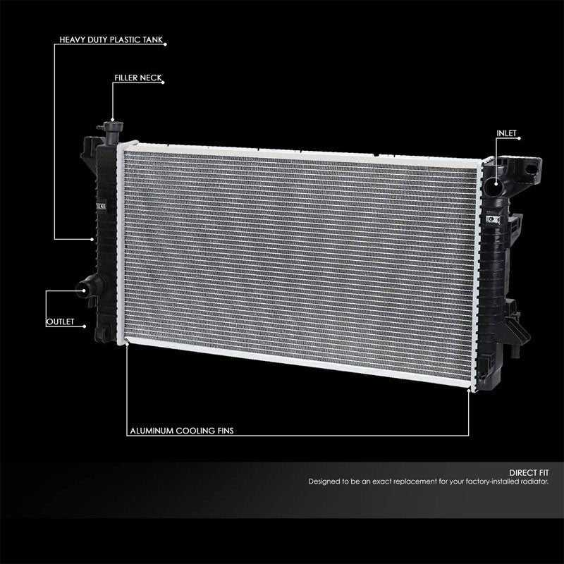 1Row OE Style Direct Replacement Aluminum Radiator For 09-14 Ford Expedition 5.4-Cooling Systems-BuildFastCar-BFC-RADOE-13099