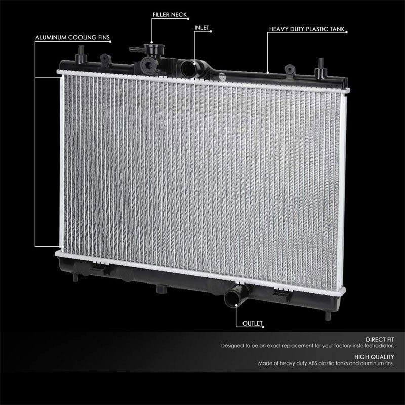 Lightweight OE Style Aluminum Core Radiator For 09-14 Nissan Cube-Performance-BuildFastCar