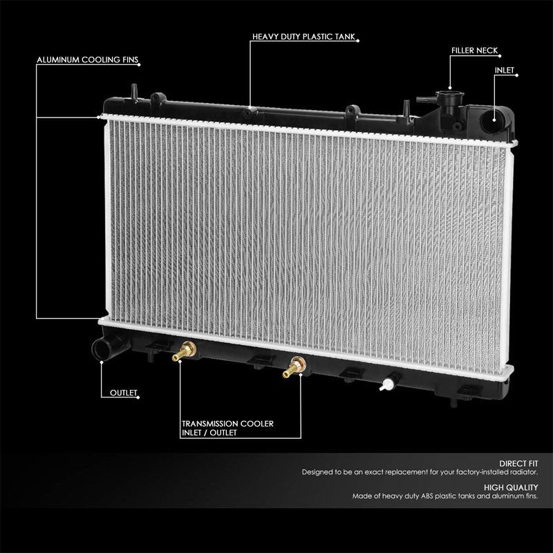 1-Row OE Style Direct Replacement Aluminum Radiator For 93-98 Subaru Impreza-Cooling Systems-BuildFastCar-BFC-RADOE-1574