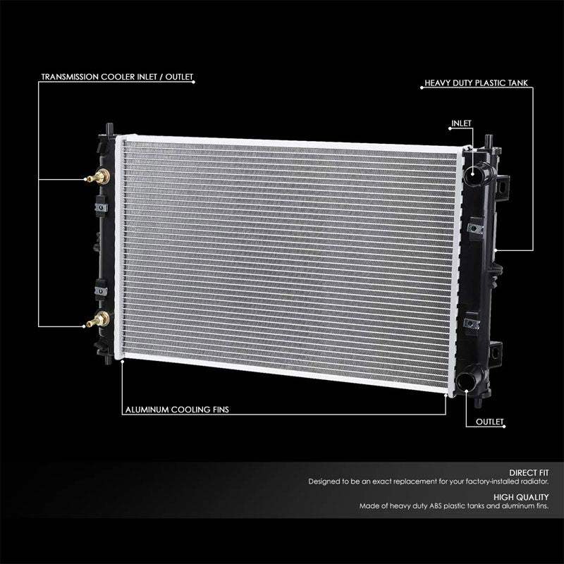 1-Row OE Style Direct Replacement Aluminum Radiator For 95-00 Dodge Stratus-Cooling Systems-BuildFastCar-BFC-RADOE-1702
