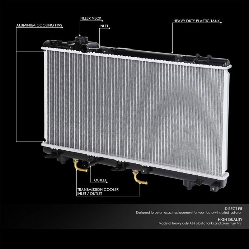 1-Row OE Style Direct Replacement Aluminum Radiator For 96-99 Toyota Paseo-Cooling Systems-BuildFastCar-BFC-RADOE-1750