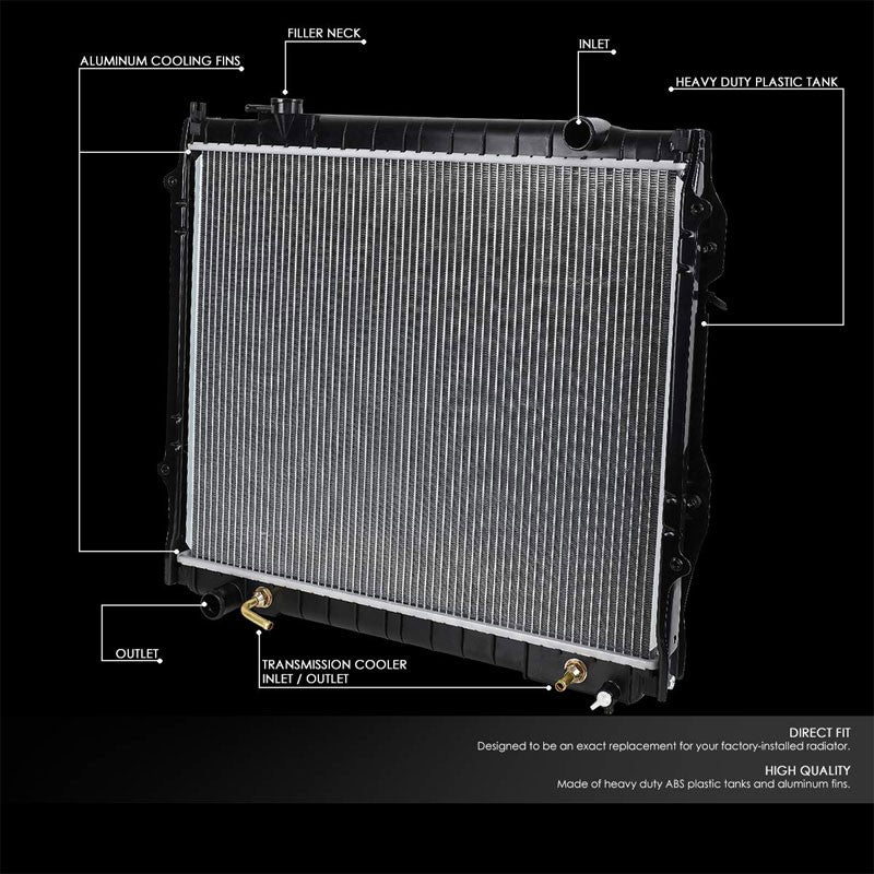 High Flow OE Style Aluminum Core Radiator For 95-04 Toyota Tacoma AT-Performance-BuildFastCar