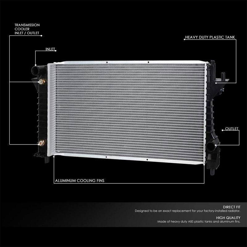 High Flow OE Style Aluminum Core Radiator For 96-07 Ford Taurus 3.0L 3.4L AT/MT-Performance-BuildFastCar