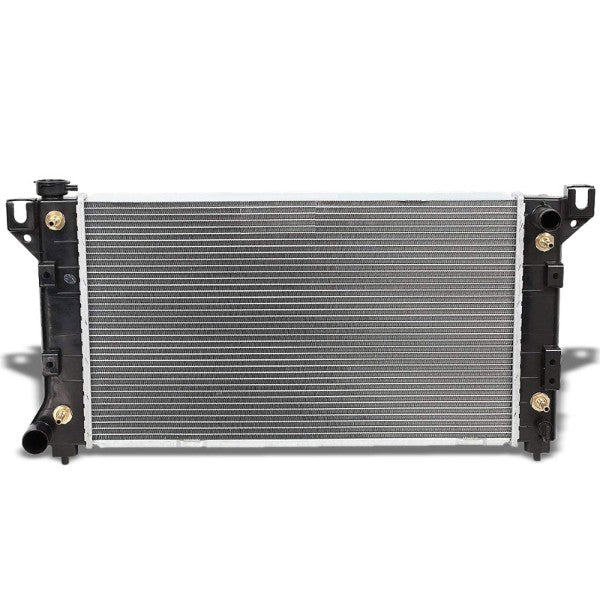 2-Row Black/Metallic Aluminum OEM Radiator Kit For 95-02 Chrysler Grand Voyager-Performance-BuildFastCar