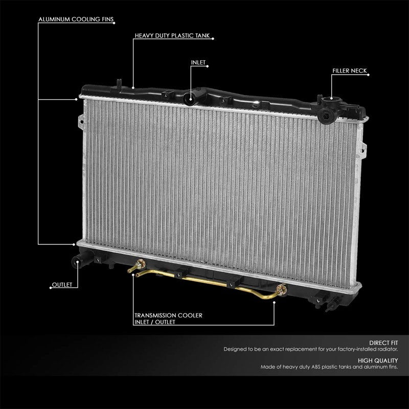 High Flow OE Style Aluminum Core Radiator For 96-00 Hyundai Elantra AT/MT-Performance-BuildFastCar