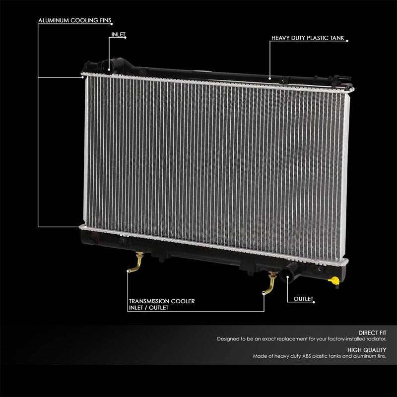 1-Row OE Style Direct Replacement Aluminum Radiator For 95-00 Lexus LS400-Cooling Systems-BuildFastCar-BFC-RADOE-2058