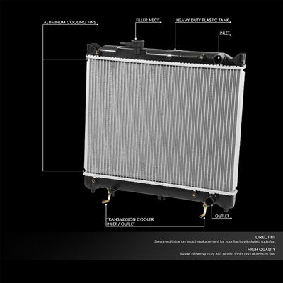 OE Style Aluminum Core Replacement Cooling Radiator For 94-97 Chevrolet Tracker