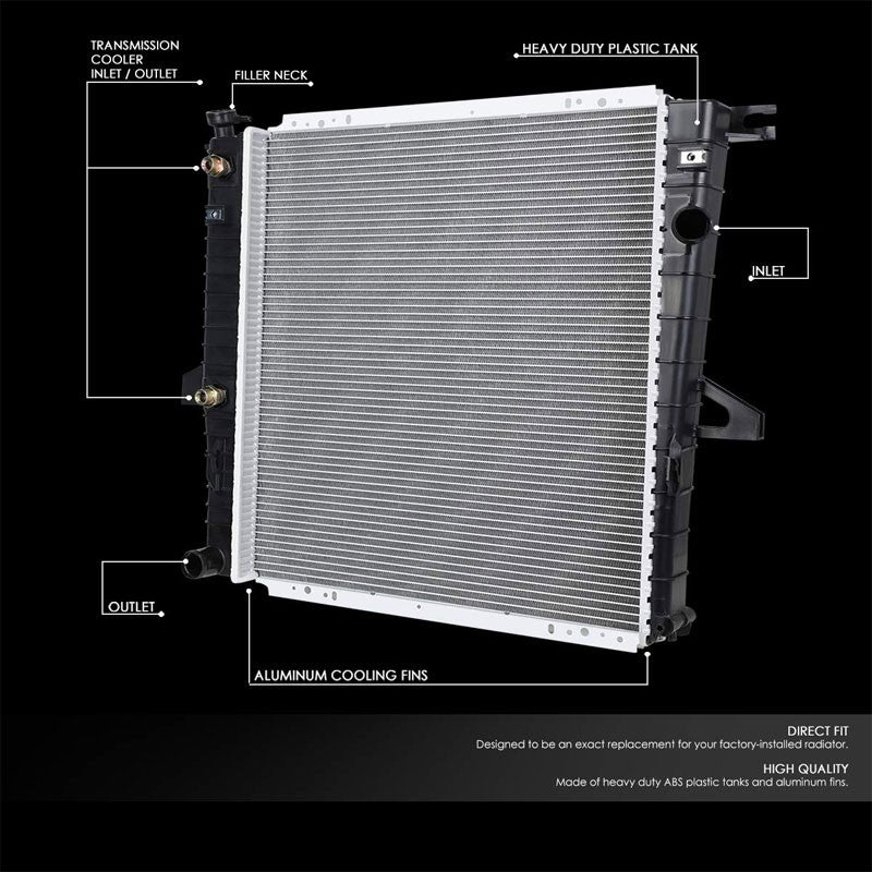 OE Style Aluminum Core Radiator For 98-11 Ford Ranger 2.3L 3.0L 4.0L AT-Performance-BuildFastCar