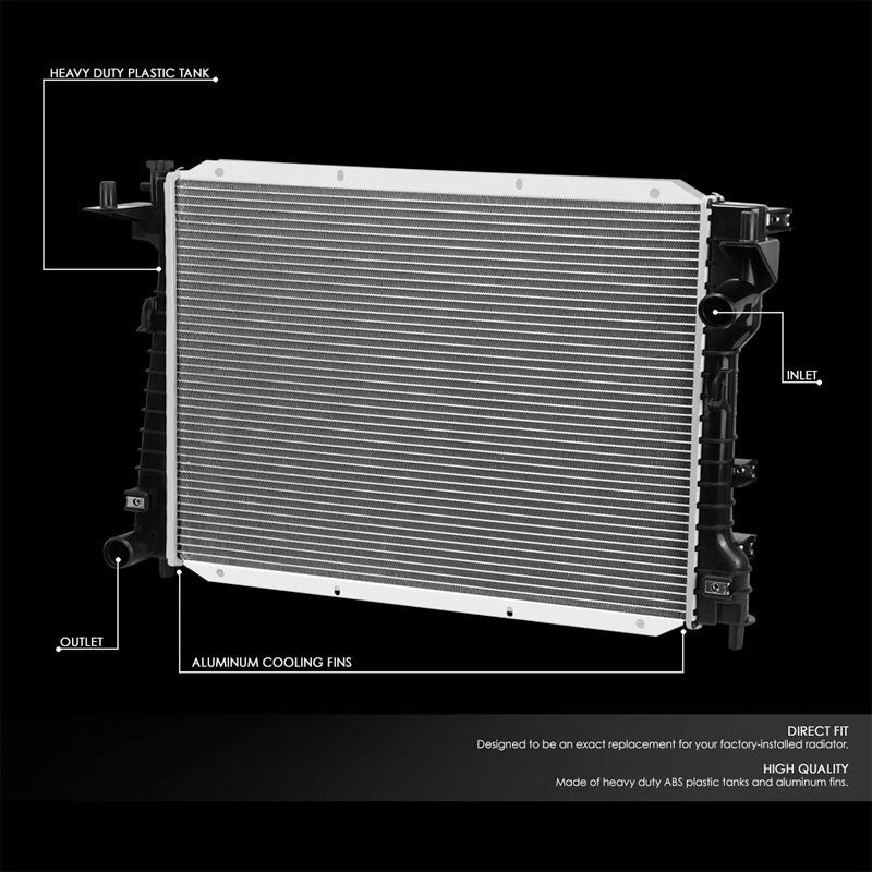 1-Row OE Style Direct Replacement Aluminum Radiator For 00-04 Jaguar S-Type-Cooling Systems-BuildFastCar-BFC-RADOE-2256