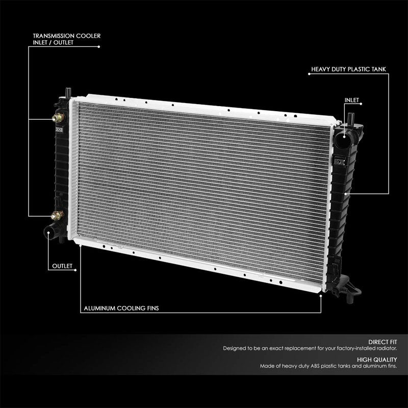 1-Row OE Style Direct Replacement Aluminum Radiator For 99-01 Lincoln Navigator-Cooling Systems-BuildFastCar-BFC-RADOE-2257