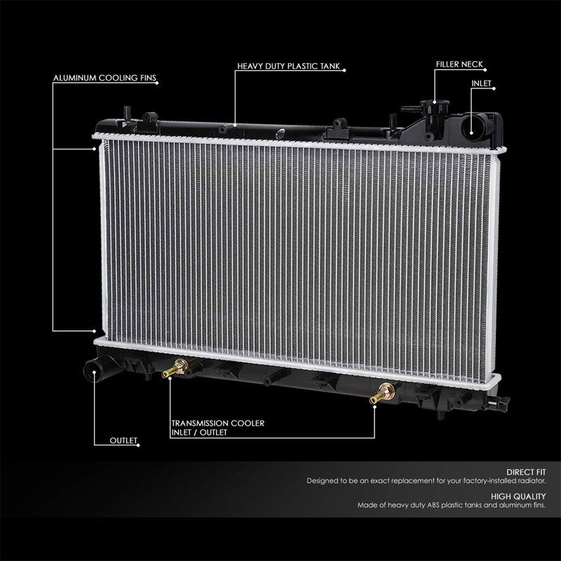 Lightweight OE Style Aluminum Core Radiator For 99-02 Subaru Forester 2.5L AT-Performance-BuildFastCar