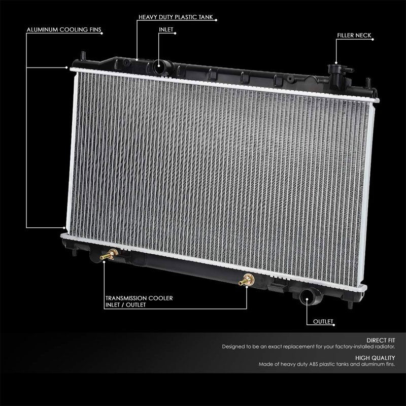 High Flow OE Style Aluminum Core Radiator For 02-06 Nissan Altima 3.5L AT/MT-Performance-BuildFastCar
