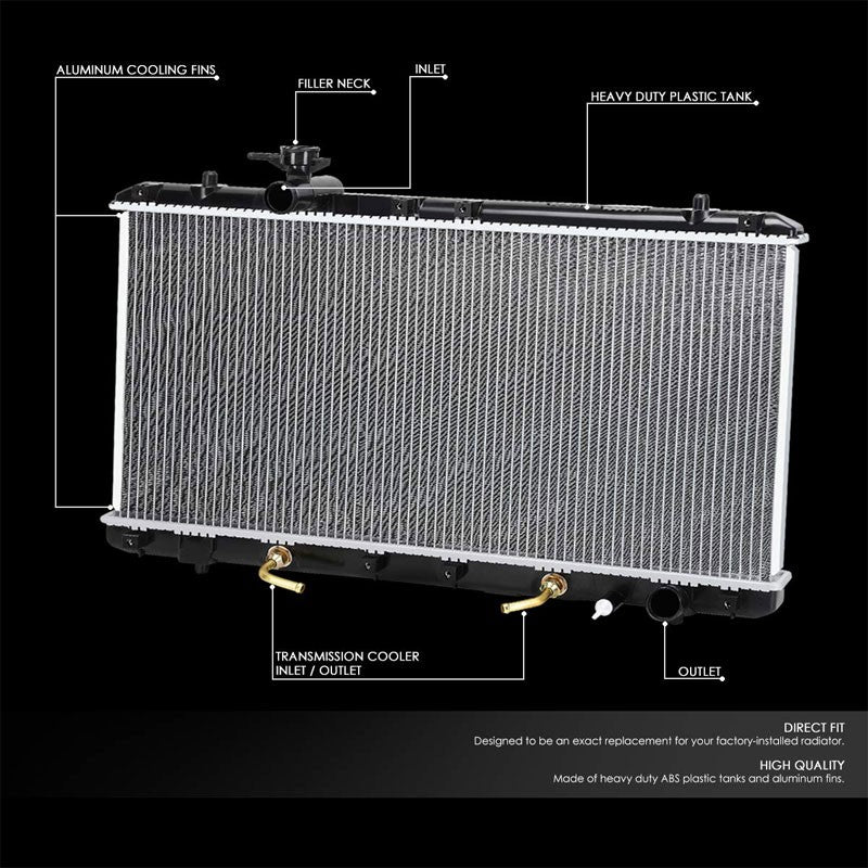 1-Row OE Style Direct Replacement Aluminum Radiator For 02-07 Suzuki Aerio-Cooling Systems-BuildFastCar-BFC-RADOE-2451