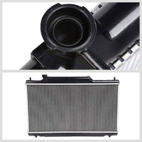1-Row Black/Metallic Aluminum OEM Radiator Kit For 02-05 Honda Civic 2.0L-Performance-BuildFastCar