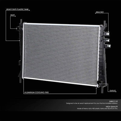 1-Row OE Style Direct Replacement Aluminum Radiator For 02-08 Jaguar X-Type-Cooling Systems-BuildFastCar-BFC-RADOE-2622