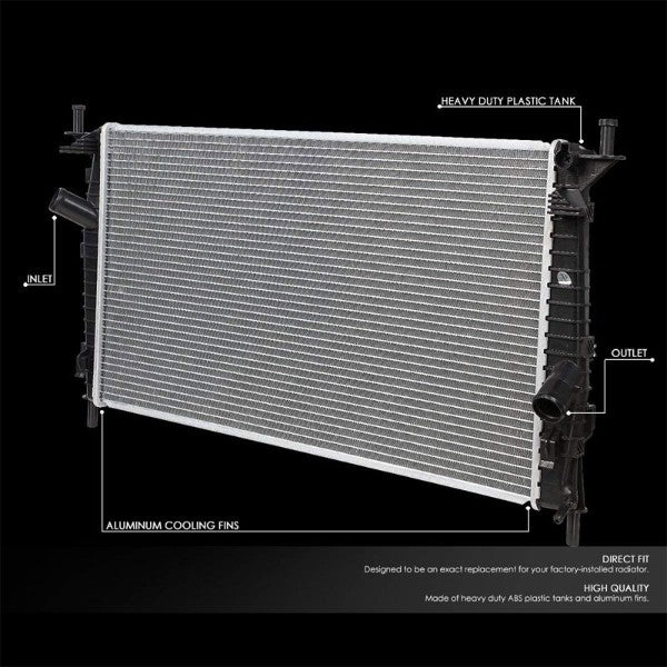 1-Row Black/Metallic Aluminum OEM Radiator Kit For 04-09 Mazda 3 2.0L/2.3L/2.3L-Performance-BuildFastCar