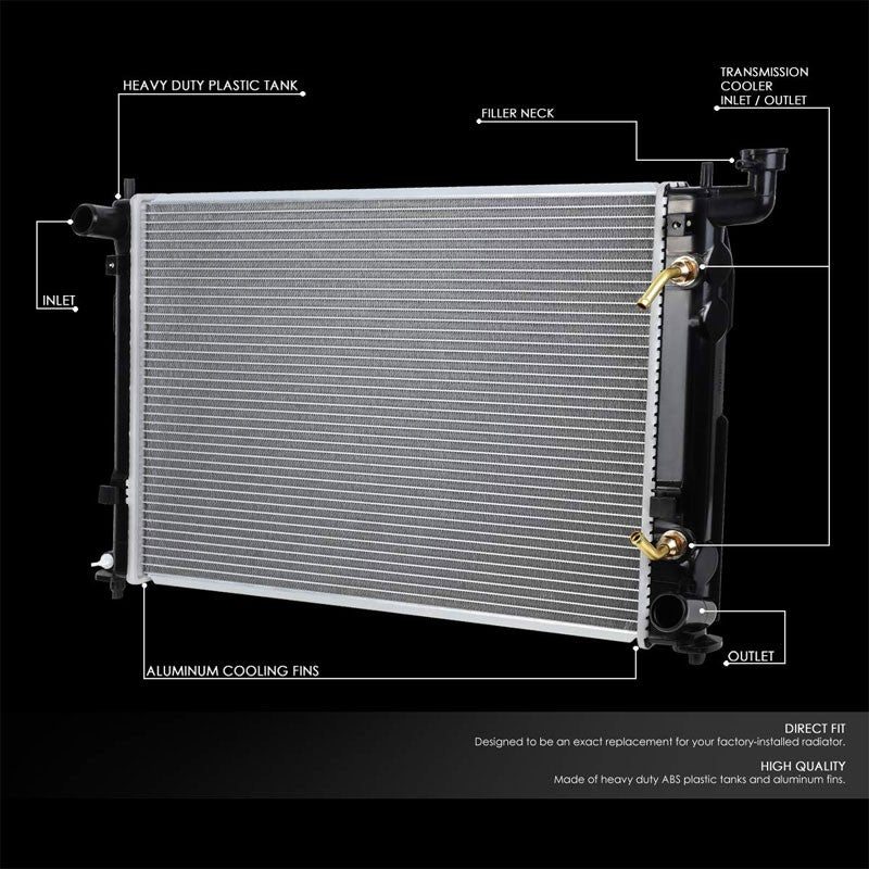 High Flow OE Style Aluminum Core Radiator For 05-10 Scion tC AT/MT-Performance-BuildFastCar