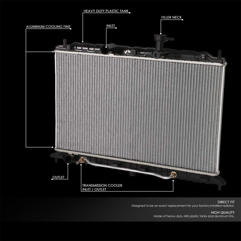 OE Style Aluminum Core Radiator For 06-11 Kia Rio/Rio5 1.6L DOHC AT/MT-Performance-BuildFastCar