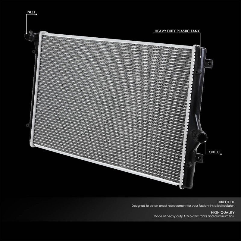 High Flow OE Style Aluminum Core Radiator For 06-14 Volkswagen Jetta-Performance-BuildFastCar