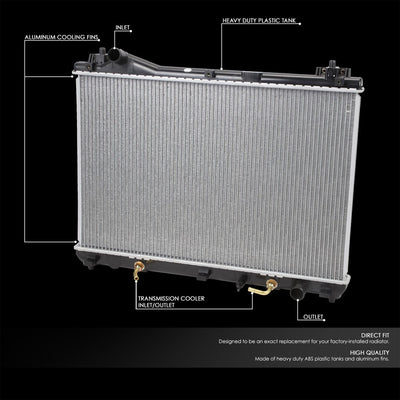 OE Style Aluminum Core Replacement Cool Radiator For 07-09 Suzuki Grand Vitara