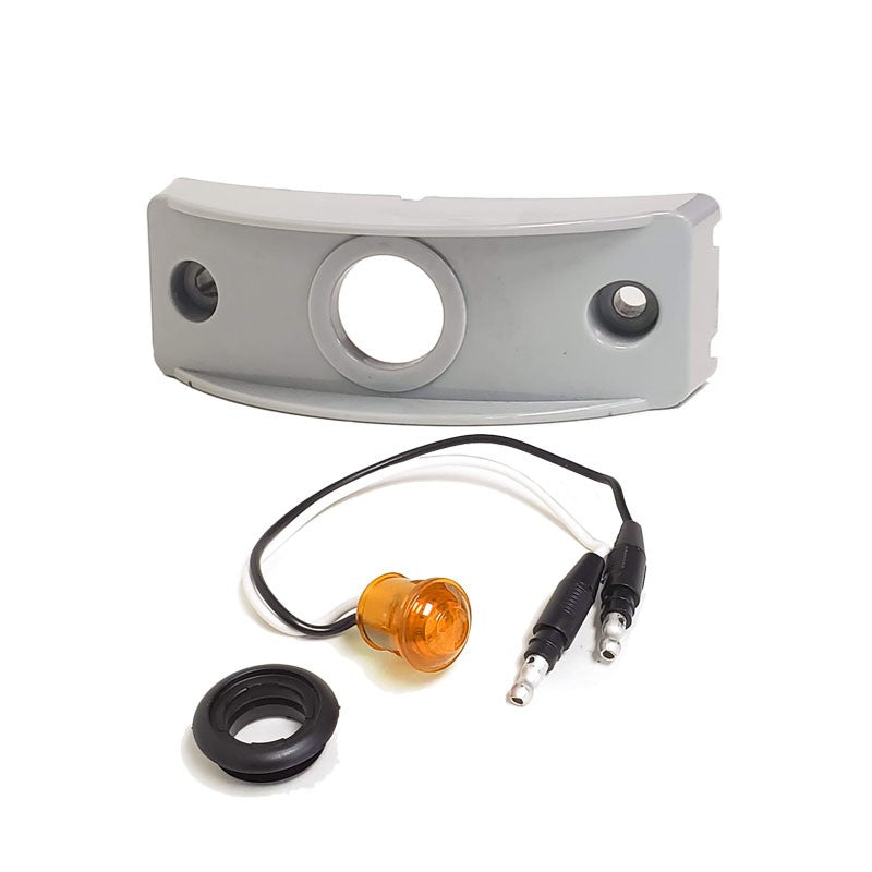 Peterson Amber Side Marker Light+Gray Side Surface Mount For Curved Surfaces-Trailer Light Parts-BuildFastCar-BFC-TTP-MSC-SMLC-0002