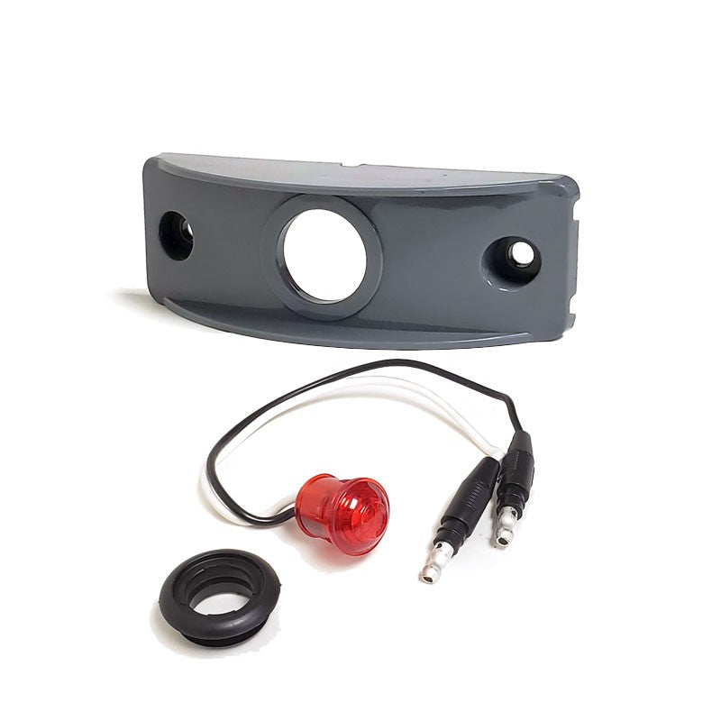 Peterson 176KR Red Side Marker Light+Gray Side Surface Mount For Flat Surfaces-Trailer Light Parts-BuildFastCar-BFC-TTP-MSC-SMLC-0003