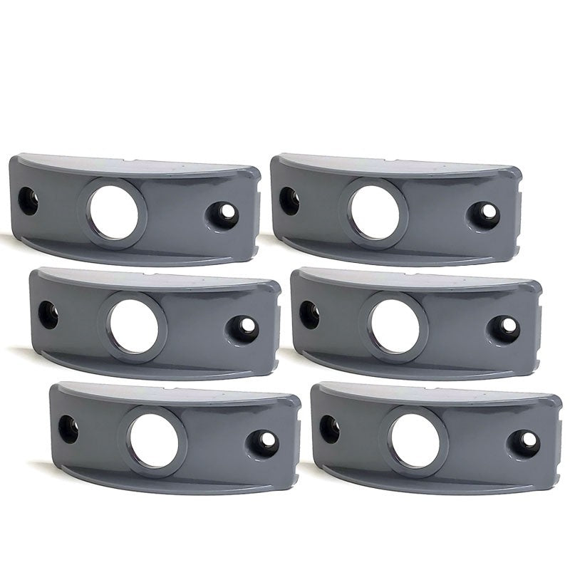 6 Pcs Peterson B176-10 Gray Polymer Side Marker Surface Mount For Flat Surfaces-Trailer Light Parts-BuildFastCar-BFC-TTP-SMSM-PET-176-10-X6