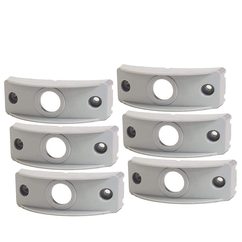 6 Pcs Peterson B176-13 Gray Polymer Side Marker Surface Mount For Curved Surface-Trailer Light Parts-BuildFastCar-BFC-TTP-SMSM-PET-176-13-X6