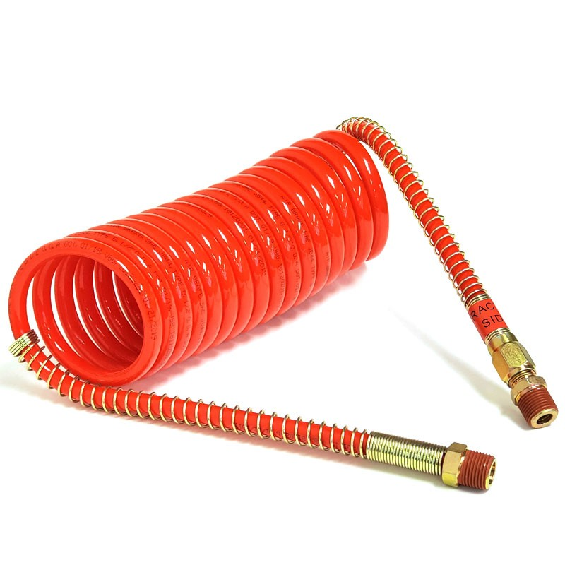 "Phillips 11-717 Nylon Red 15"" Long Emergency Steel Spring Coiled Air For Trailer-Trailer Brake Parts-BuildFastCar-BFC-TTP-COAI-PHIL-11-717"