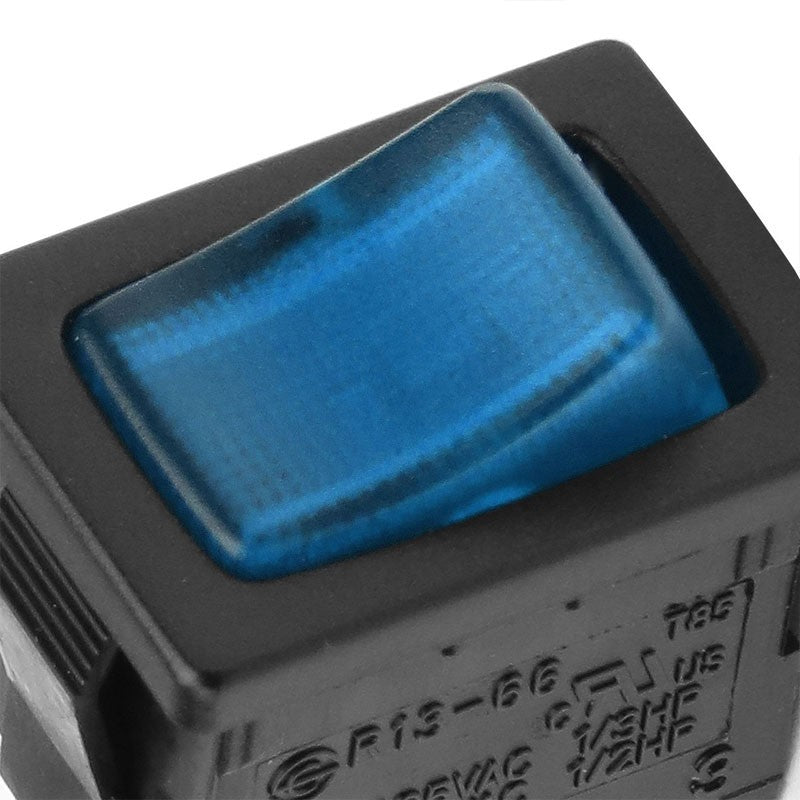 Car Boat Truck 12V 20A 3 Pin On/Off Blue LED Rocker Power Toggle Switch Control-Control Switches-BuildFastCar-BFC-CONSW-T1-BL